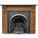 Carron Edinburgh Corbel 55 Solid Oak Surround