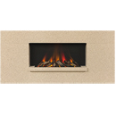 Europa Fireplaces Luna Wide Chiffon Wall Mounted Electric Fire