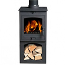 Gallery Helios 5 Cleanburn Multifuel Wood Burning Stove With Log Store _ multifuel-stoves