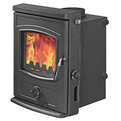 Graphite Inset Multifuel Wood Burning Boiler Stove