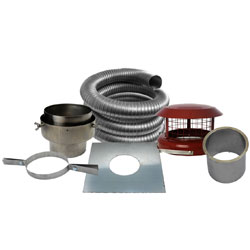 Fire Depot 10 Metre x 6 inch diameter Multifuel Flexible Flue Liner Kit (316)